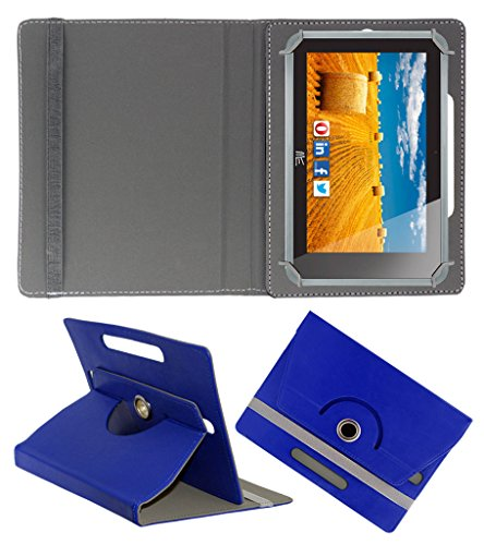 Acm Rotating 360° Leather Flip Case For Hcl Me Connect 3g 2.0 Y4 Tablet Cover Stand Dark Blue  available at amazon for Rs.149