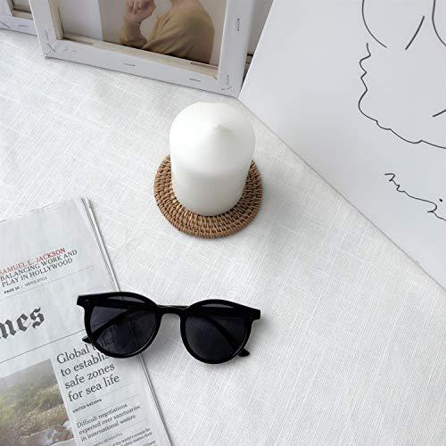 GUGU Retro Polarized Womens Sonnenbrillen Schutz Fahren Brillen Acetate Frame (Farbe : Schwarz)