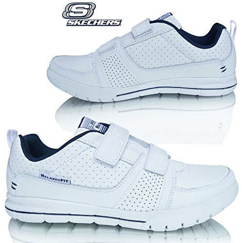 mens-skechers-relaxed-fit-memory-foam-archad-ii-crunch-time-leather-walking-sports-fashion-trainers-