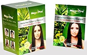 Veda Herbals Maxx Pro Herbal Hair Darkening Shampoo, Pack of 10 (300ml)