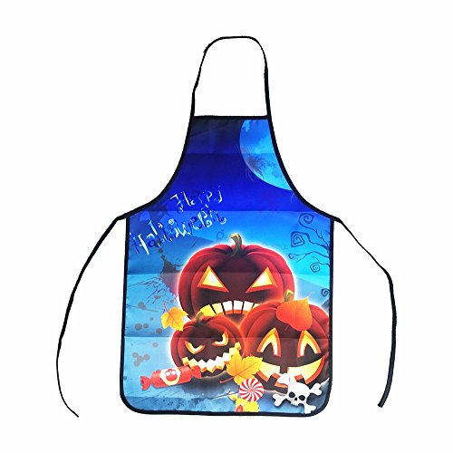 Sunnywill Halloween Schürzen Küche Restaurant Damen Herren Dekoration Kochen lustig (A)