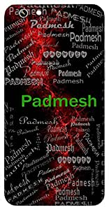 Padmesh (Lord Vishnu) Name & Sign Printed All over customize & Personalized!! Protective back cover for your Smart Phone : Moto G3 ( 3rd Gen )