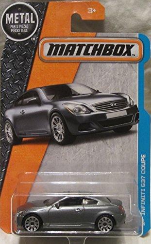 Matchbox, 2016 MBX Adventure City, Infiniti G37 Coupe [Silver] #32/125 by Matchbox (Infiniti G37 Coupe)