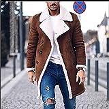 WWricotta Men's Wool Jacket Warm Winter Trench Long Outwear Button Smart Overcoat Coats