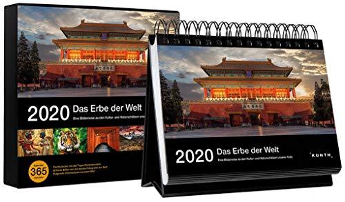 Tischkalender Das Erbe der Welt 2020: 365-Tage Spiralaufsteller in Geschenkbox