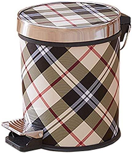 Trash Can Startseite Dustbins Creative-Pedal Trash Haus und Küche Bad und Wohnzimmer mit Deckeln großen Kapazitäts-Papierkorb Kunststoff Lagerung Eimer Küche Mülleimer (Color : E, Size : Medium)
