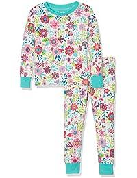 Hatley 100% Organic Cotton Long Sleeve Printed Set, Pyjamas Fille