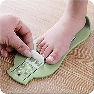 Crazyon Baby Fußlineal für Kinder, Fußlängenmessgerät für Kleinkinder, Babyschuhe, Beschläge, Werkzeug (zufällige Farbe)