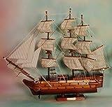 Victory VELERO DE Madera Mod, Decoracion Nautica DE 60,00CM TW 60-3