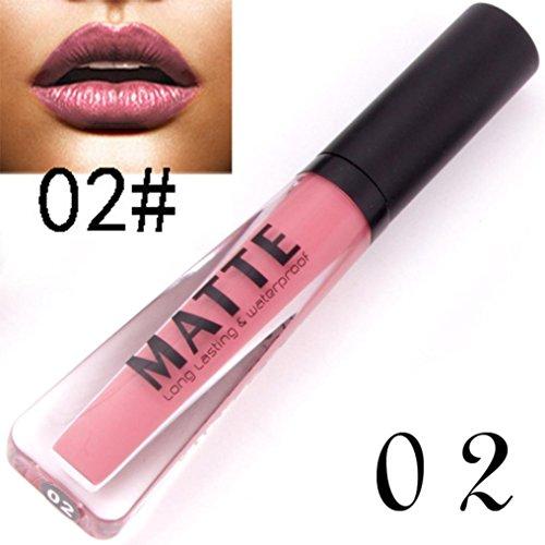 24 Colores Profesional Mate Pintalabios de Maquillaje Larga Duracion para Niñas por ESAILQ L