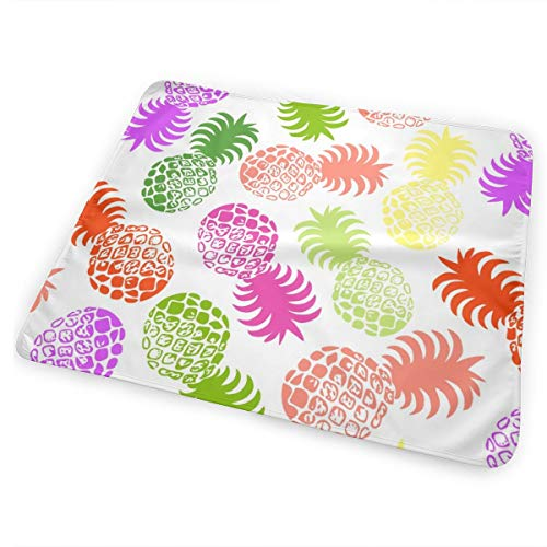 Hawaiian Tropical Pineapple - Living Coral Multi Washable Incontinence Pad Baby Changing Pad Pet Mat Large Size 25.5 x 31.5 inch (65cm*80cm)
