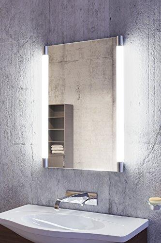 Gita LED-Badezimmerspiegel mit Außensteckdose, Spiegelheizung k340