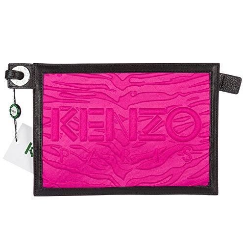 Kenzo pochette a mano donna nuova originale fucsia