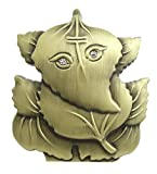 #8: Purpledip Ganesha Statuette On Leaf For Car Dashboard, Home Temple Or Office Table; Unique Hindu Gift Ganapathi (10676)