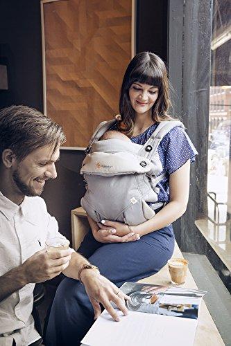 Imagen para Ergobaby Mochila Portabebé Ergonómico Pack 360 con Cojín para Recién Nacidos,  4-Posiciones de Porteo, Gris