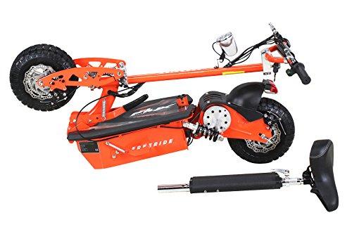 E-Scooter Roller Original E-Flux Freeride 1000 Watt 48 V mit Licht und Freilauf Elektroroller E-Roller in vielen Farben (orange) - 3