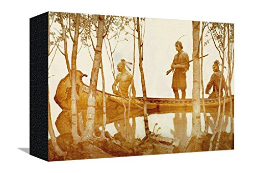 mohicans-leinwand-von-newell-convers-wyeth-23x30-cm