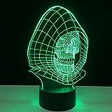 Mddjj Bunte Schädel-Sichtlampen-Fernnote 7 Farbänderung Führte Nachtlicht Halloween-Geschenk Powerbank-Kindertischlampen Schlafzimmer Licht