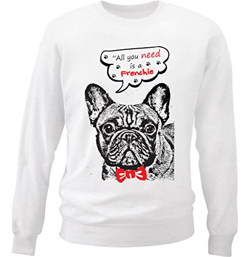 teesquare1st Men's French Bulldog Frenchie All You Need Sudadera Size Small