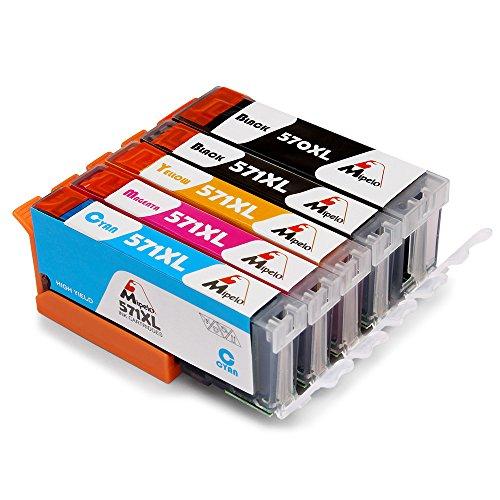 Mipelo Compatibili Canon PGI-570XL CLI-571XL Grande capacità Cartucce d'inchiostro, Utilizzato in Canon Pixma MG5750 MG5751 (Magenta Originale Della Testina Di Stampa)