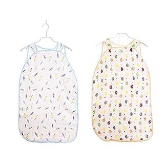 Sacos de Dormir para Bebé, Peso de Verano, Lavable a Máquina, 0.5 Tog, 2PCS, 1-2 Años