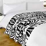 Dreamscene Animal Fleece Blanket, Zebra, 120 x 150 Cm