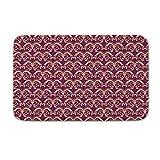 DKISEE Fußmatte für den Innen- und Außenbereich, florales Muster, Magenta, Flanell, 20