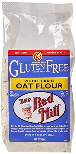 Bob's Red Mill Gluten Free Whole Grain Oat Flour 400 g (Pack of 4)