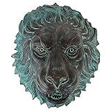 Design Toscano MP61038 Florentine Tête de Lion jaillit Sculpture de Mur Bronze 15 x 28 x 33 cm