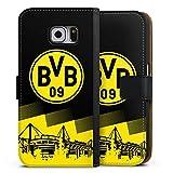 DeinDesign Samsung Galaxy S6 Tasche Leder Flip Case Hülle BVB Logo Borussia Dortmund