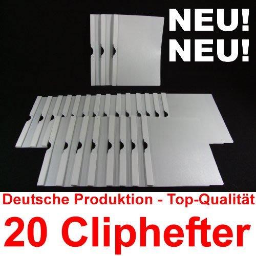Bewerbungsmappen Cliphefter Klemmmappen 20 Stück in WEIß