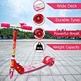 Zest 4 Toyz Skate Scooter for Kids with 3 Wheels and 3 Position Adjustable Height with Bell -Red