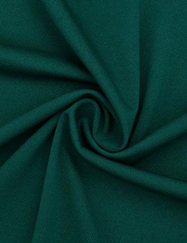 Vessos Damen Kleid A-Linie für Sommer Einfarbig Muster 6