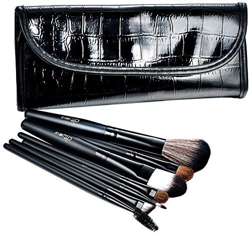 Glow Lot de pinceaux de maquillage professionnels avec manches en bois