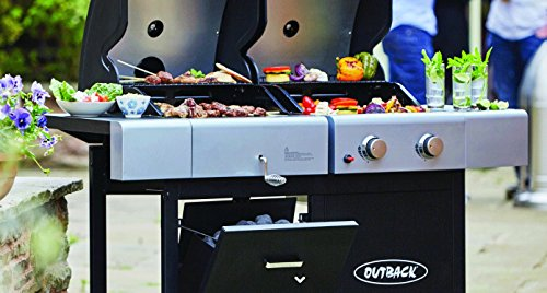 Outback Dual Fuel 2 Gas/Charcoal Barbecue - 2017 Model - OUT370635