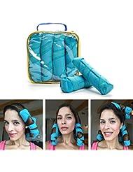 Lockenwickler Nacht groß locken shclafen ohne hitze weichen Schwamm Schlafwickler verschiedenen Größen Haarklammern, Lockenstäbe Curler Roller (großes 8-Pack 16CM)