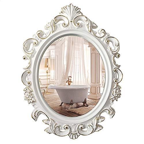 Ovalado Vintage Espejos baño Pared Maquillaje Cosmético