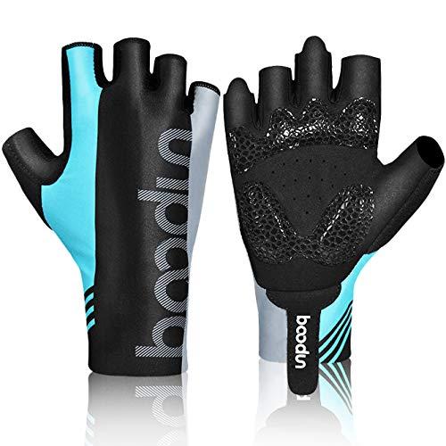 HASAGEI Fahrradhandschuhe Fingerlose Handschuhe Rennrad Handschuhe Dünne Radsport Handschuhe für Herren und Damen (Blauer See, M) Coole Handschuhe