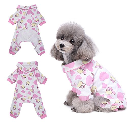 Zebra Schlafanzug Hund Kleidung angenehm Puppy pyjamsa Weich Hund Jumpsuit Shirt 167% Baumwolle Mantel für kleine Hunde und Katzen von hongyh (Dackel Wars Star)