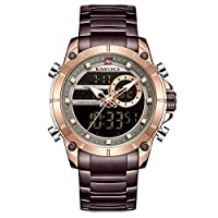 Naviforce Men's Rose Gold Dial Stainless Steel Analogue Classic Watch - NF9163-RGCE