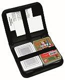 Nürnberger Spielkarten - Doppio mazzo di carte da ramino, in astuccio di pelle, semi francesi, 2 mazzi da 55 carte, con istruzioni, penna e blocco segnapunti
