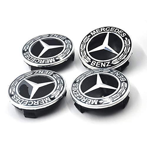 Myhonour 4X Felgendeckel Nabenkappen mit BMW/Volkswagen/Mercedes Benz Logo (4)