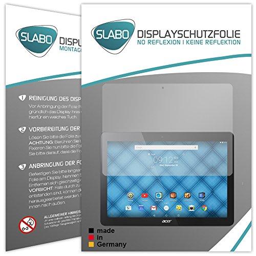 Slabo 2 x Displayschutzfolie Acer Iconia One 10 (B3-A30) Displayschutz Schutzfolie Folie No Reflexion|Keine Reflektion MATT - Entspiegelnd Made IN Germany