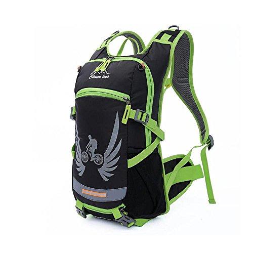 HTRPF Fahrrad Rucksack Outdoor Reittasche Herren & Frauen Wasser Tasche Taschen Schulter Rucksack Green