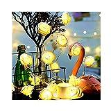 Ankamal Elec 1PC warme weiße Rosenblüte LED Batterie String Lichter 1m 10 LED Warmweiß für Straßen, Gärten, Windows, Shops, Veranstaltungsort, Bühne und Weihnachten