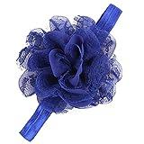 Tonsee Mädchen einstellbare attraktive Blume Tuch niedlichen Baby Partei Kleinkinder Haarband Stirnband (blau)