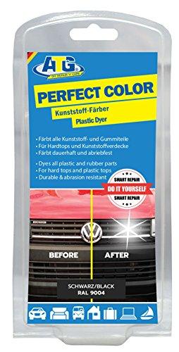 ATG Kunststoff-Färber Perfect-Color schwarz verleiht Stoßstangen, Zierleisten neues Leben und bringt den Glanz zurück – funktioniert bei jedem Auto & Motorrad, ATG047 (Färben Leder Schwarz)