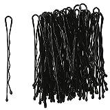 60Stück selbermachen, hat Haar 6cm lackiertes Metall schwarz–Zubehör Frisur