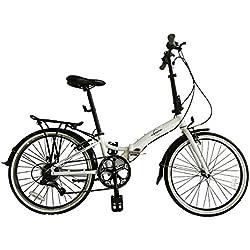 """ECOSMO 24""""rueda de bicicleta de aleación de bicicleta plegable ligero 7SP, 14kg-24af02W"""