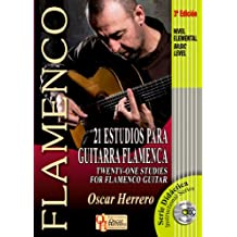 21 ESTUDIOS PARA GUITARRA FLAMENCA (Nivel Elemental) (Libro de Partituras + CD)/Twenty-One Studies For Flamenco Guitar (Basic Level) (Score Book + Serie Didáctica/Instructional Series)